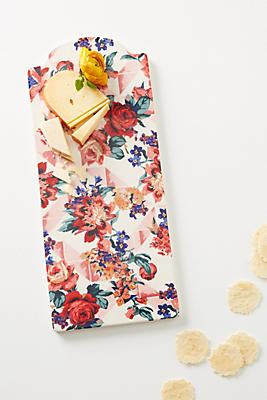 Slide View: 1: Liberty for Anthropologie Geo Paradise Garden Cheese Board