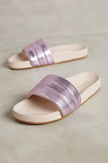 Guilhermina Purple Metallic Pool Slides