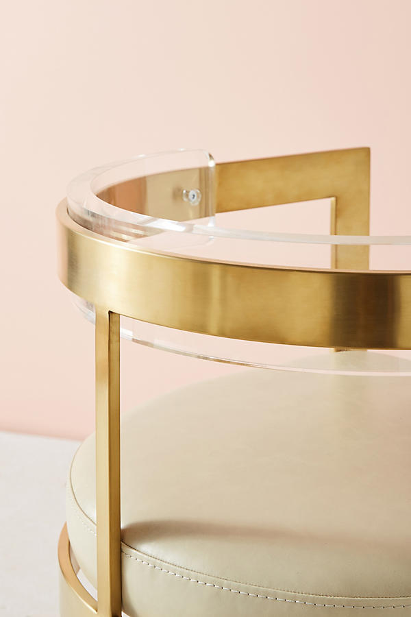Slide View: 10: Oscarine Lucite Stool
