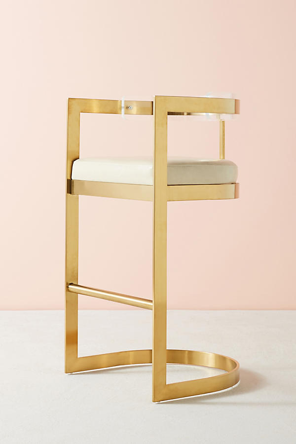 Slide View: 2: Oscarine Lucite Stool