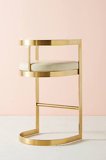 Slide View: 3: Oscarine Lucite Stool