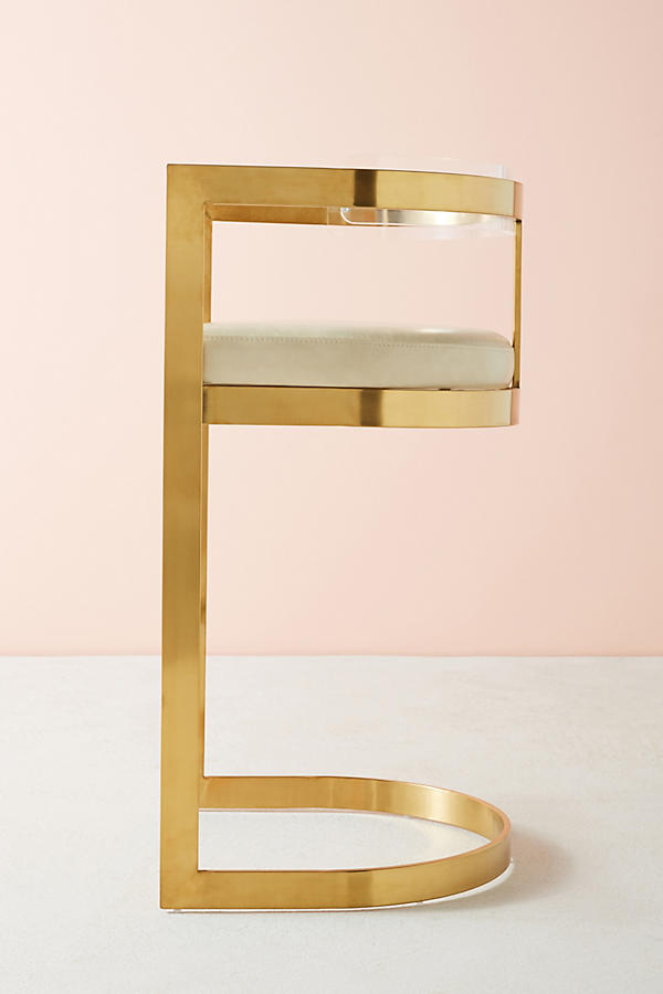 Slide View: 4: Oscarine Lucite Stool