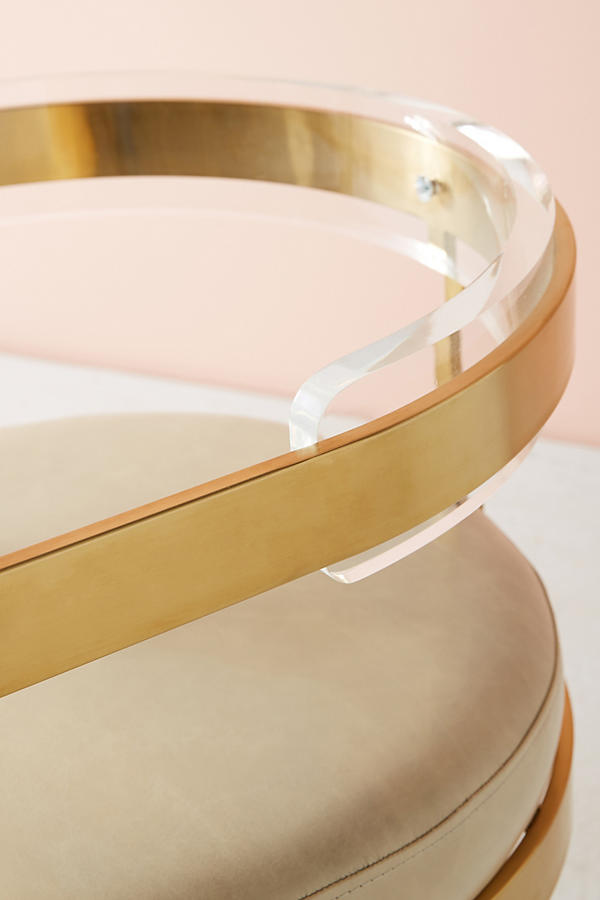 Slide View: 5: Oscarine Lucite Stool