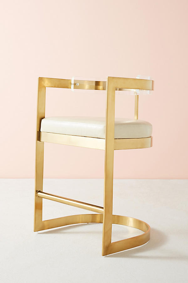 Slide View: 6: Oscarine Lucite Stool
