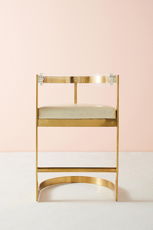 Slide View: 7: Oscarine Lucite Stool
