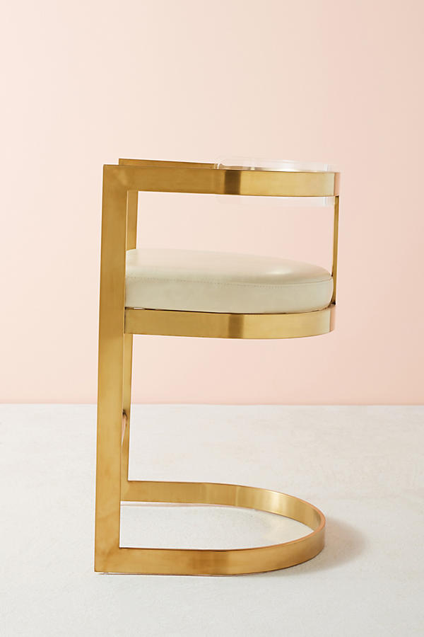Slide View: 8: Oscarine Lucite Stool