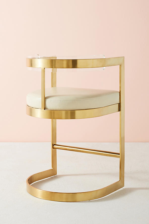 Slide View: 9: Oscarine Lucite Stool