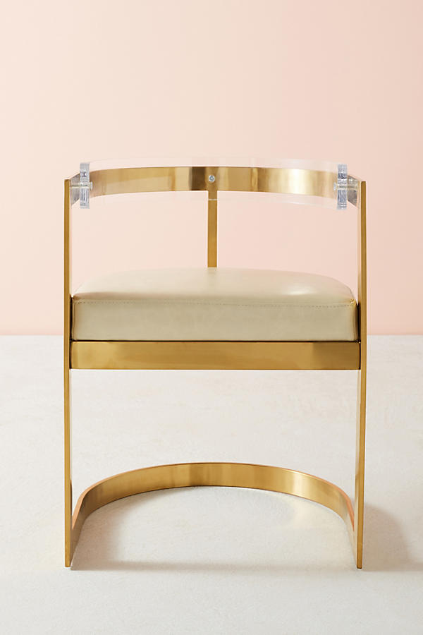 Slide View: 2: Oscarine Lucite Dining Chair