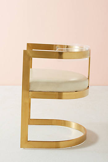 Slide View: 3: Oscarine Lucite Dining Chair