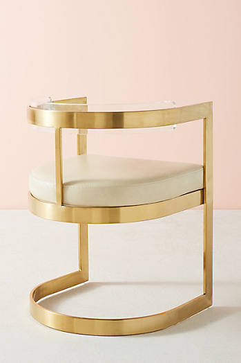 Slide View: 4: Oscarine Lucite Dining Chair