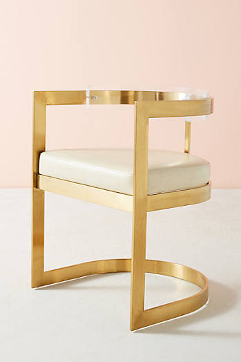 Slide View: 1: Oscarine Lucite Dining Chair