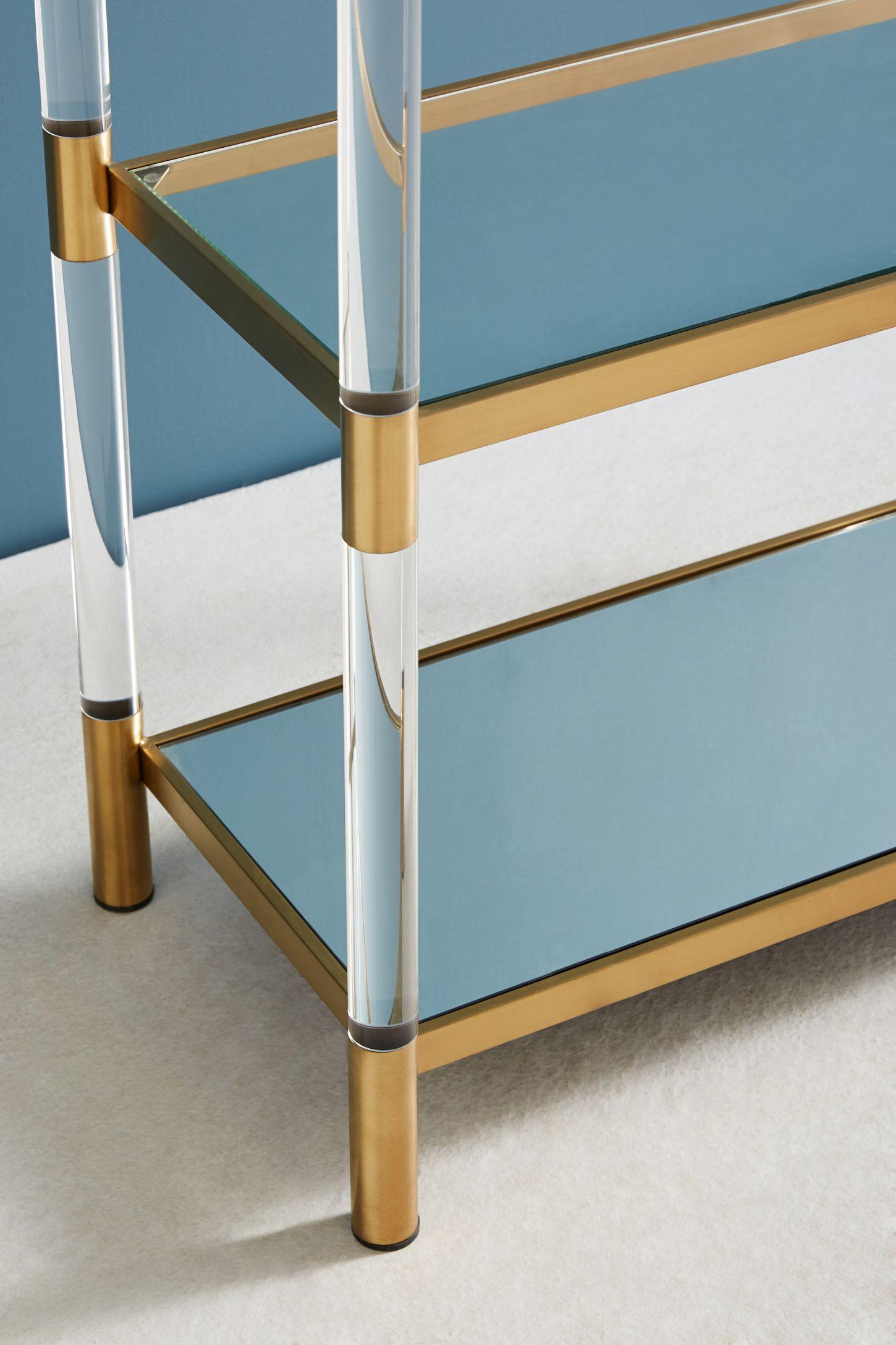 Slide View 3 Oscarine Lucite Mirrored Bookshelf