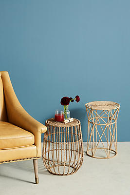 Slide View: 3: Jute Basket Side Table