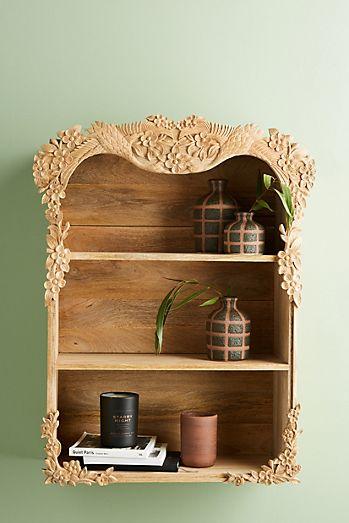 Wooden Shelves Black Brackets