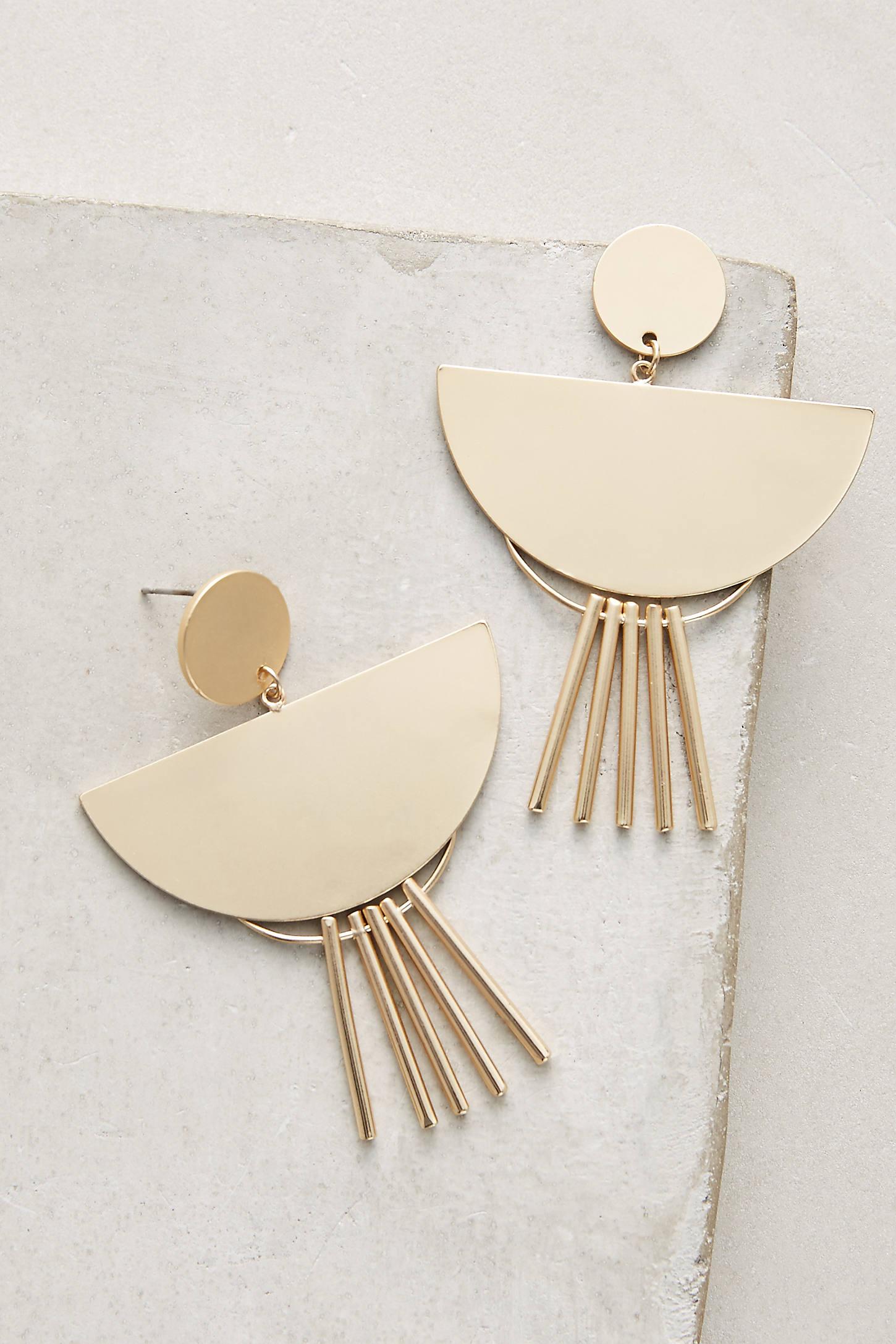Fringed Spoon Drop Earrings