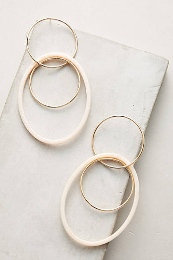 Neutral Tandem Hoop Earrings