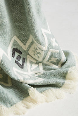 Slide View: 2: Embroidered Piper Throw Blanket