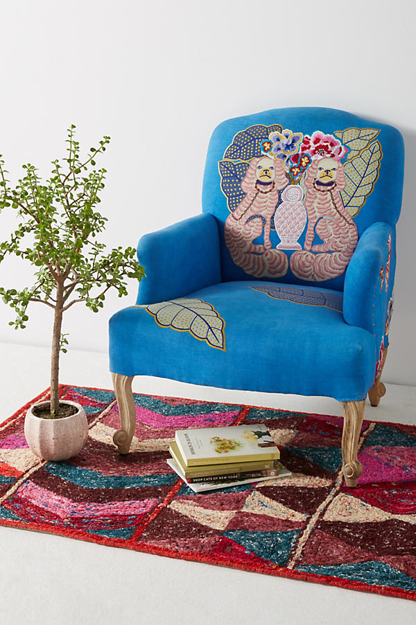 Palace Portrait Chair - Hawaiian Blue