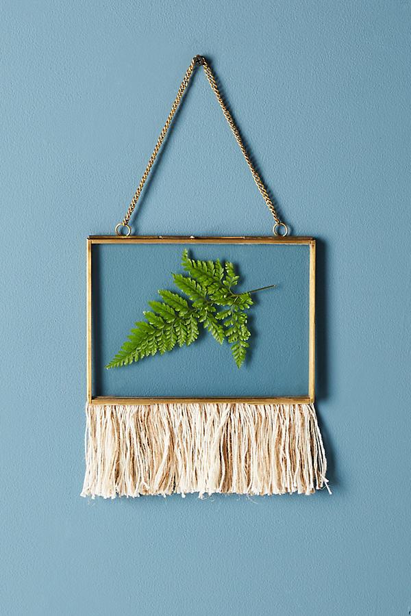 Fringed Hanging Frame - White, Size 4 X 6