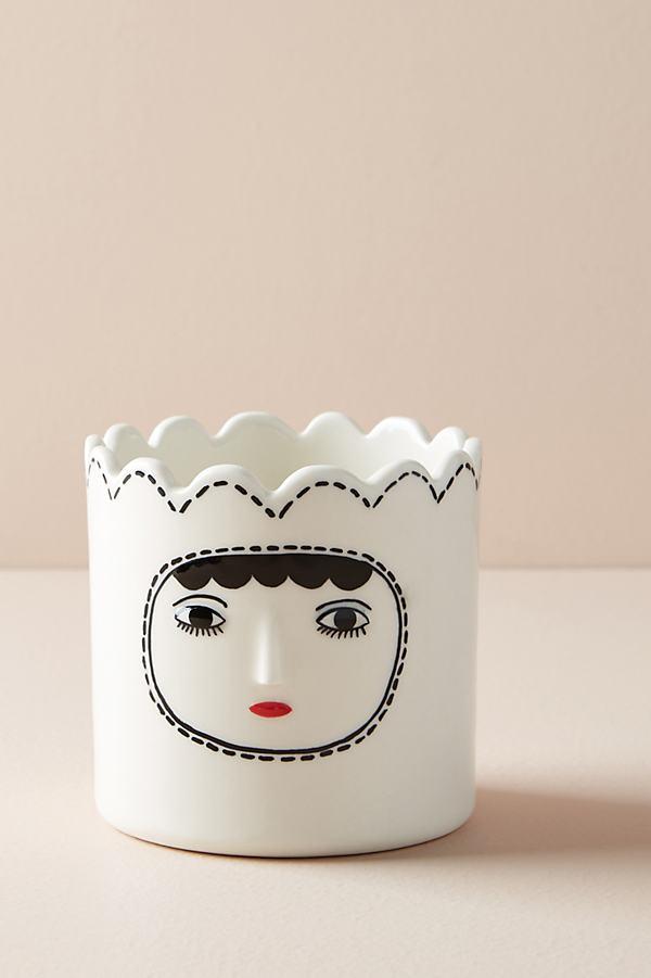 Kinska Dora Face Pot - White
