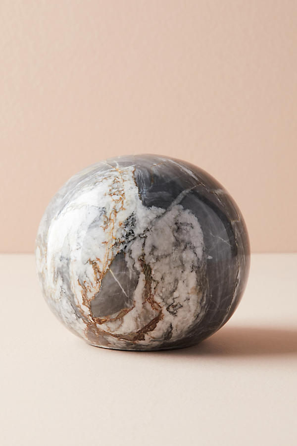 Slide View: 2: Black Marble Decorative Object