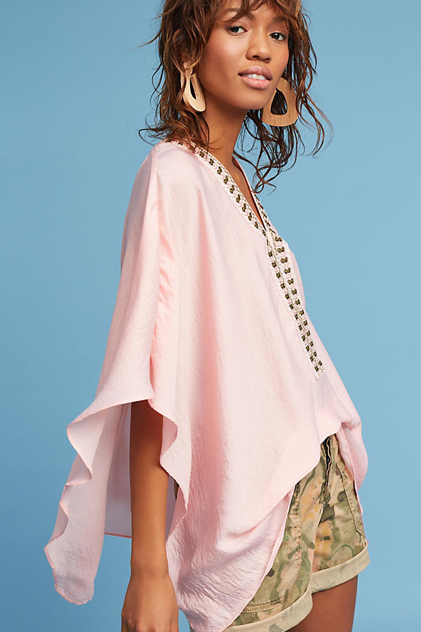 Slide View: 2: June Embroidered Poncho