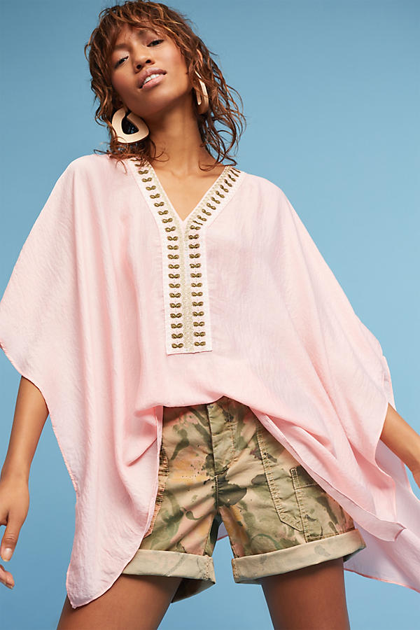 Slide View: 3: June Embroidered Poncho