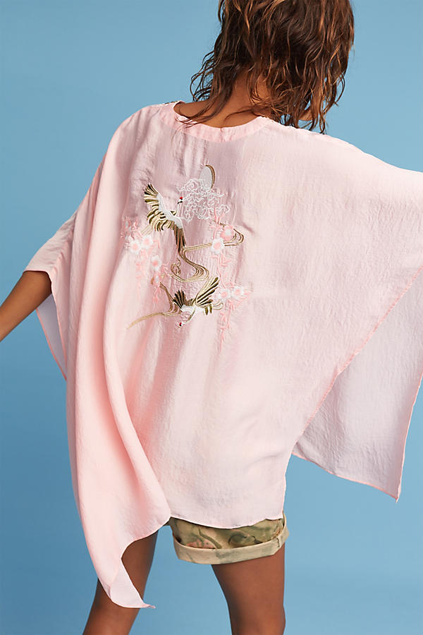 Slide View: 4: June Embroidered Poncho