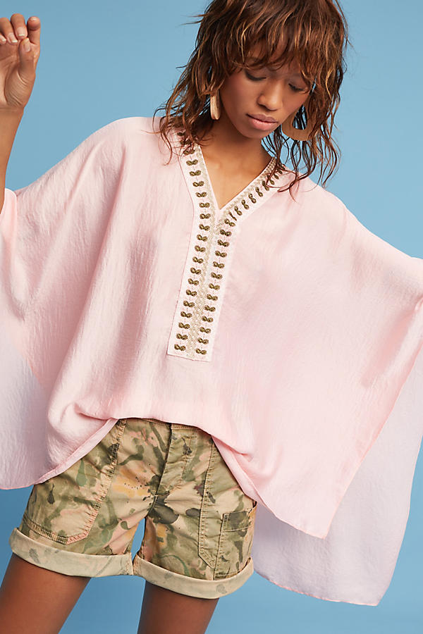 Slide View: 1: June Embroidered Poncho
