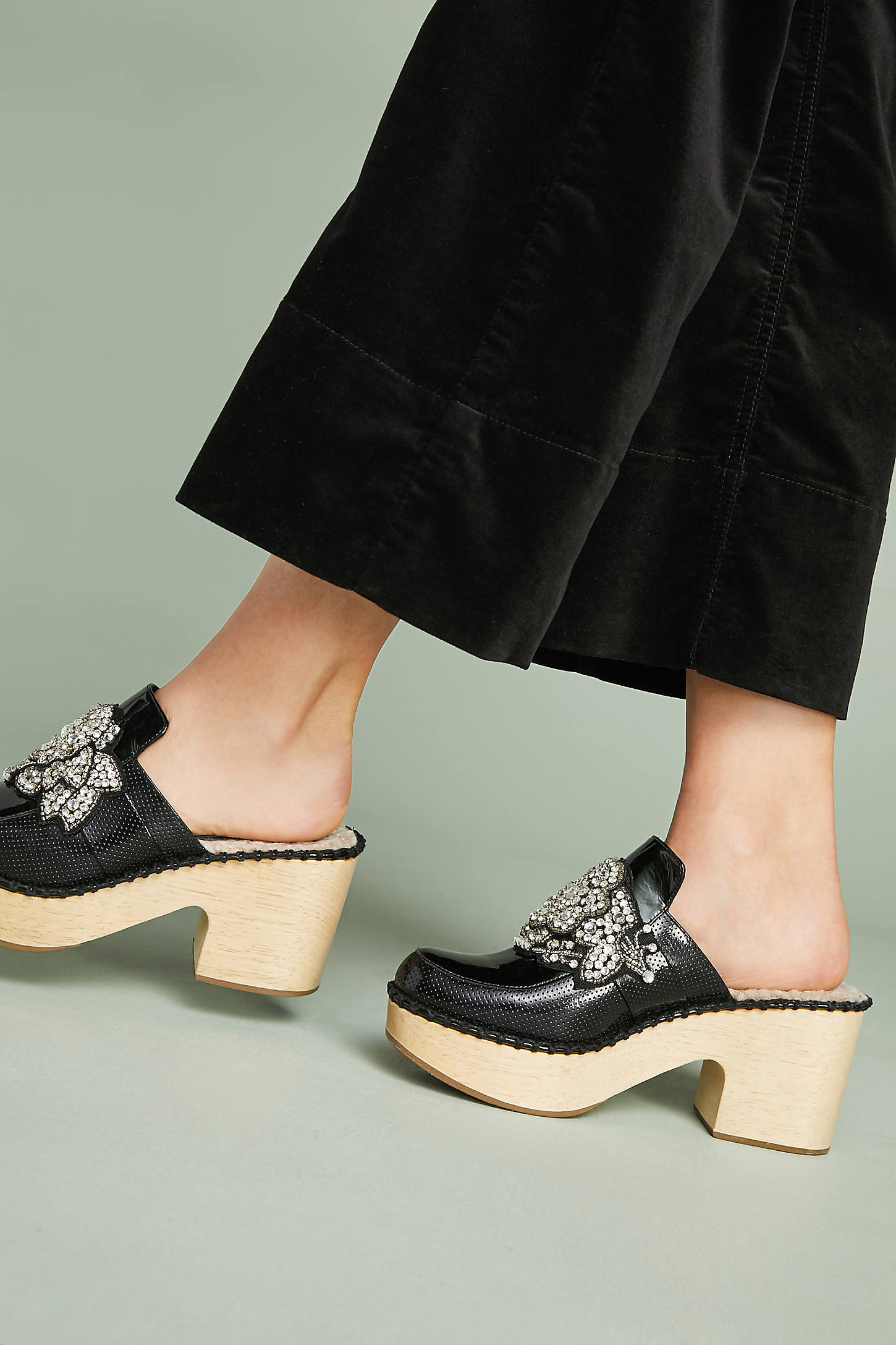 Rachel Comey Beau Embellished Platform Clogs