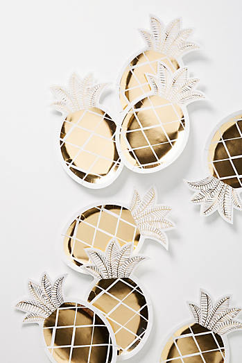Pineapple Paper Plate Set