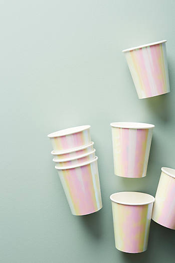 Irridescent Paper Cup Set