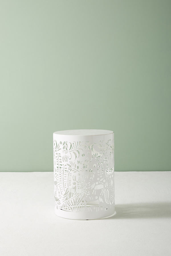 Patterncut Side Table - White
