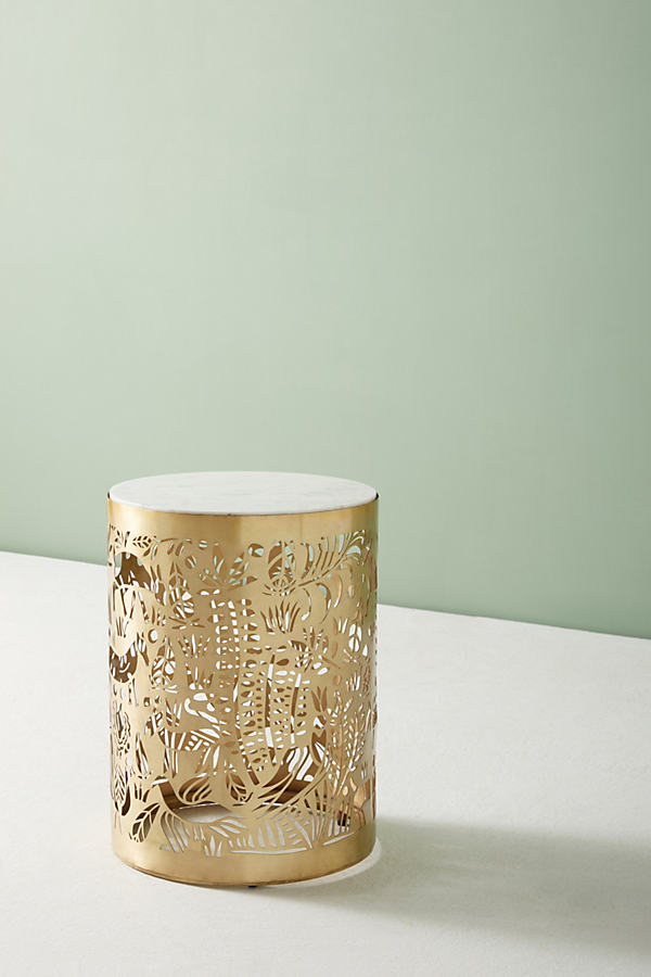 Patterncut Side Table - Bronze