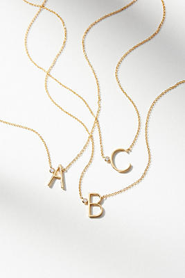 delicate monogram necklace anthropologie