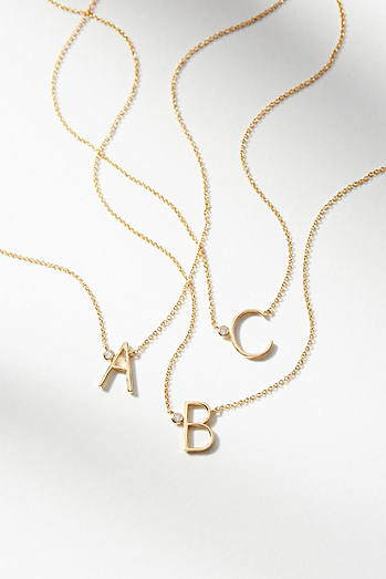 Delicate Monogram Necklace