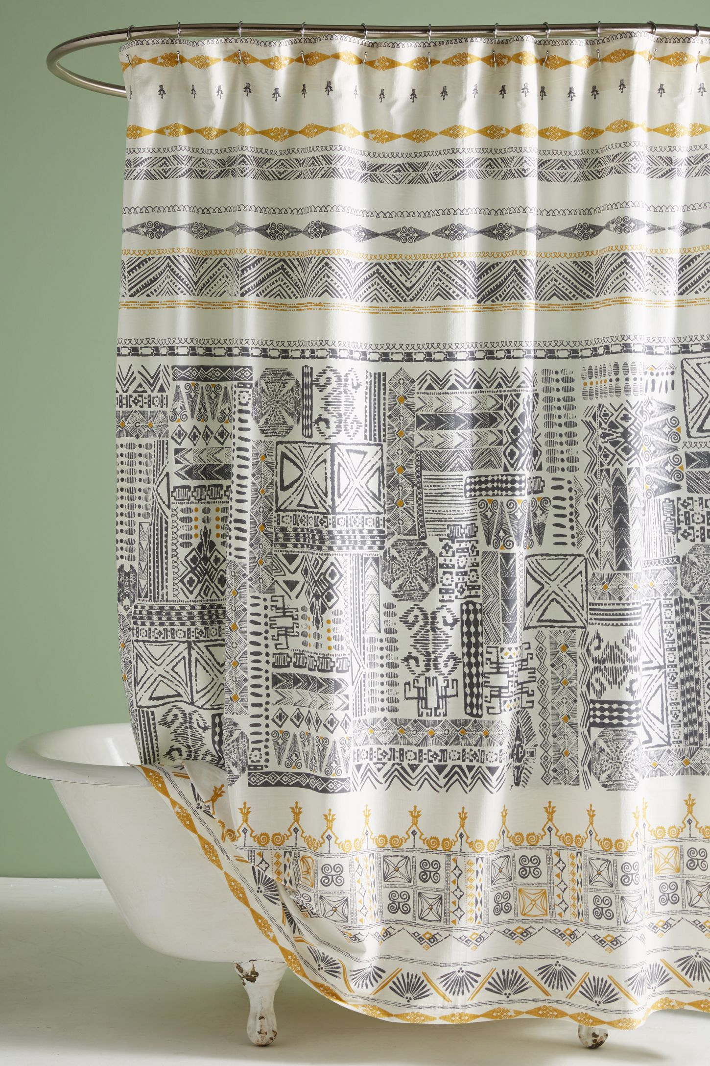 Grey - Unique, Modern & Boho Shower Curtains | Anthropologie