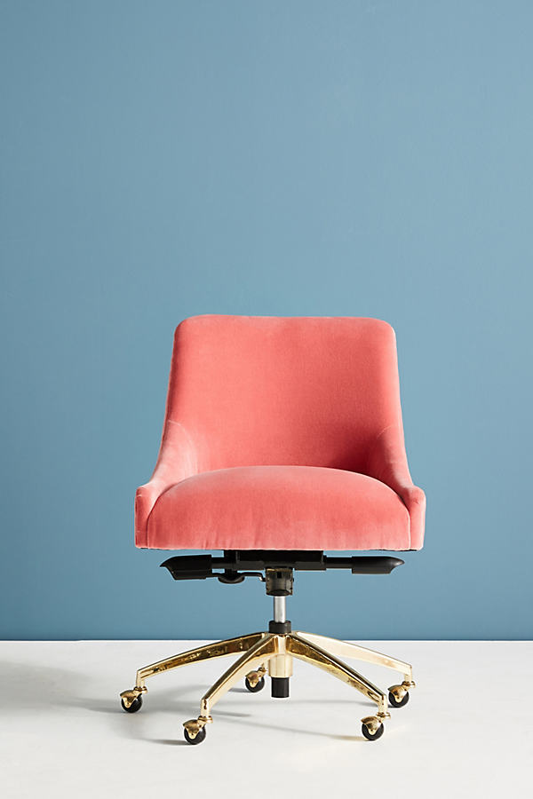 Elowen Swivel Chair - Medium Pink