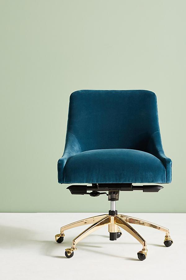 Elowen Swivel Chair - Blue Green