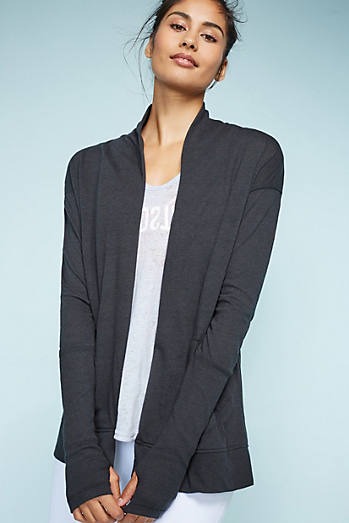 Ribbed Sleeve Cardigan