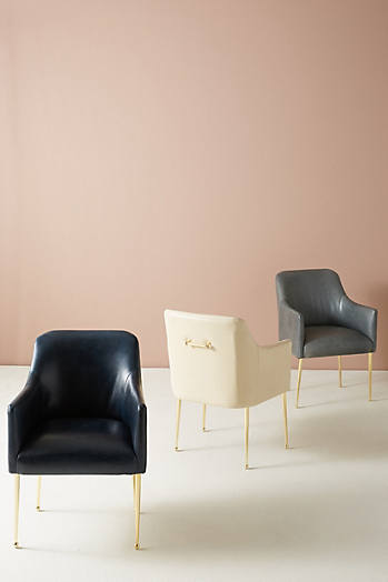 Slide View: 7: Premium Leather Elowen Armchair
