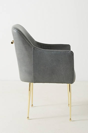Slide View: 2: Premium Leather Elowen Armchair