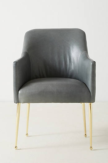 Slide View: 3: Premium Leather Elowen Armchair