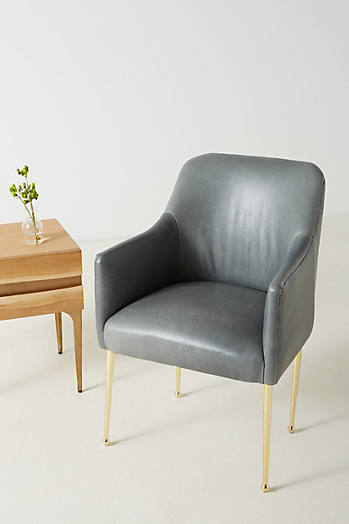 Slide View: 1: Premium Leather Elowen Armchair