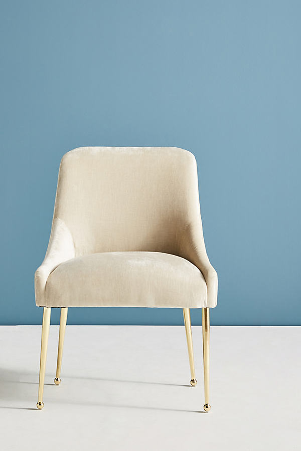 Slub Velvet Elowen Chair - Pearl