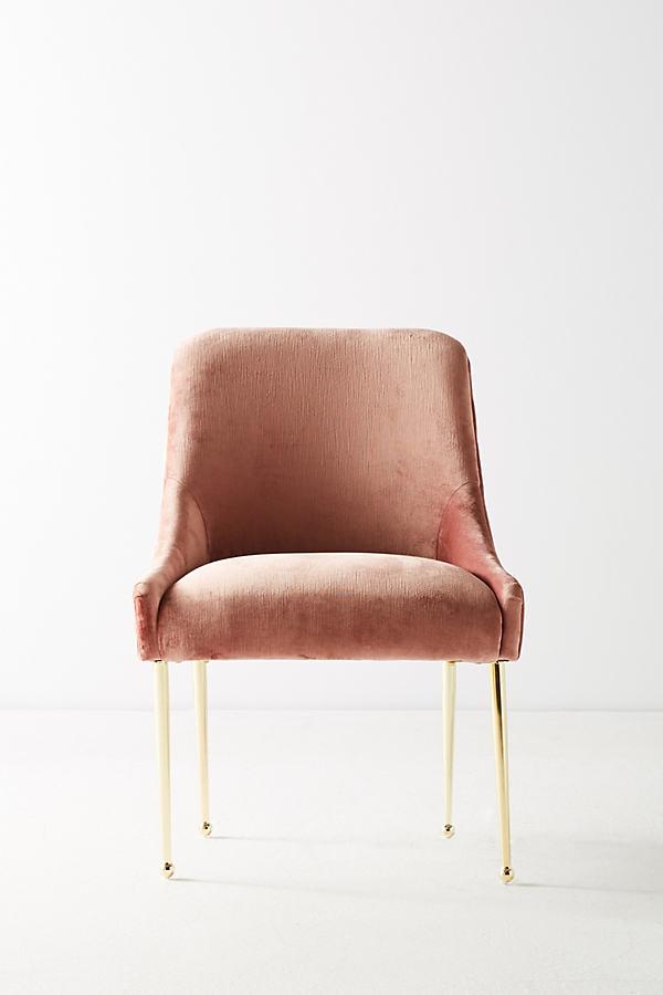Slub Velvet Elowen Chair - Pink