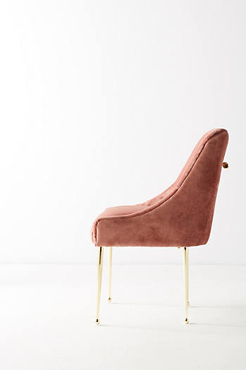 Slide View: 4: Chaise en velours flammé Elowen