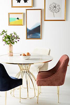 Slide View: 1: Slub Velvet Elowen Chair