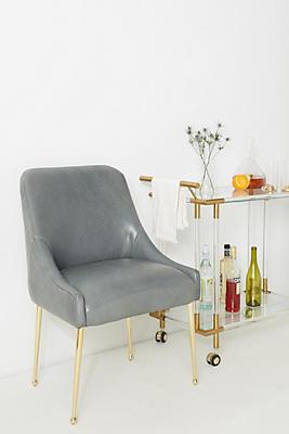 Slide View: 1: Premium Leather Elowen Chair