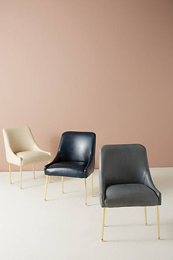 Slide View: 7: Premium Leather Elowen Chair